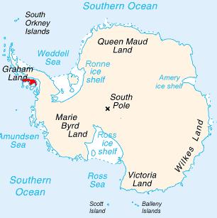 Земля Александра Первого на карте мира
