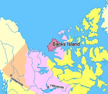 Остров Банкс на карте мира