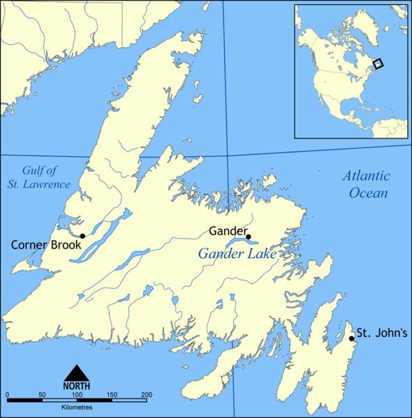 Остров Ньюфаундленд на карте мира