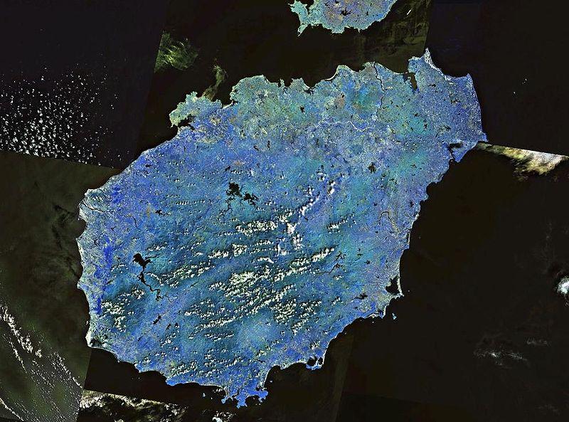 Спутниковый снимок острова Хайнань