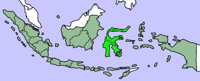 Остров Сулавеси на карте мира