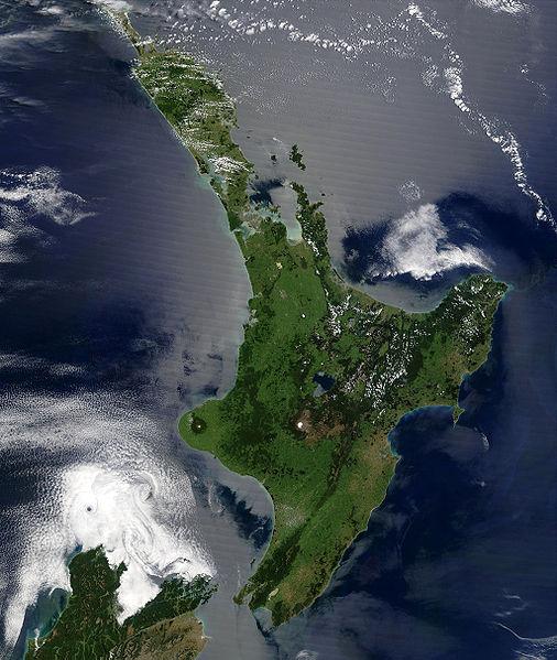 Космический снимок Северного острова