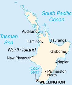 Северный остров на карте мира