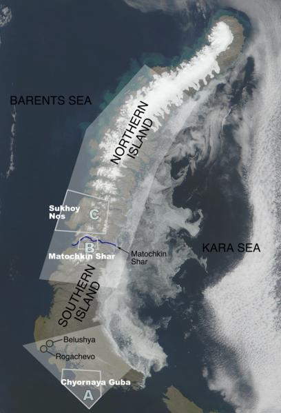 Спутниковый снимок Южного острова