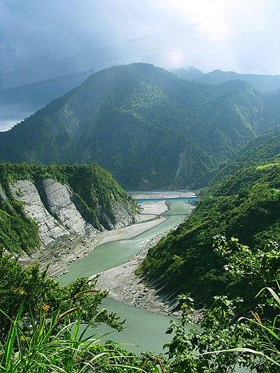 Река Сюгулан на острове Тайвань