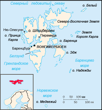 Карта архипелага Шпицберген