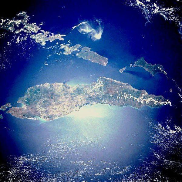 Вид на остров Тимор из космоса