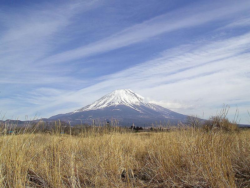 Вулкан Фудзи на острове Хонсю