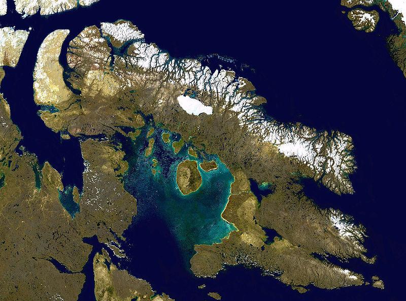 Баффинова Земля - вид из космоса