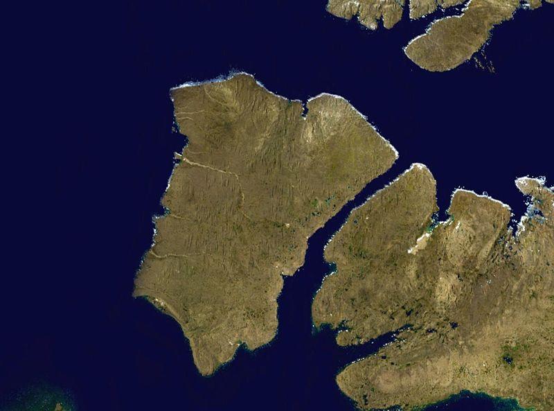 Остров Банкс из космоса