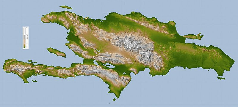 Остров Гаити на карте мира