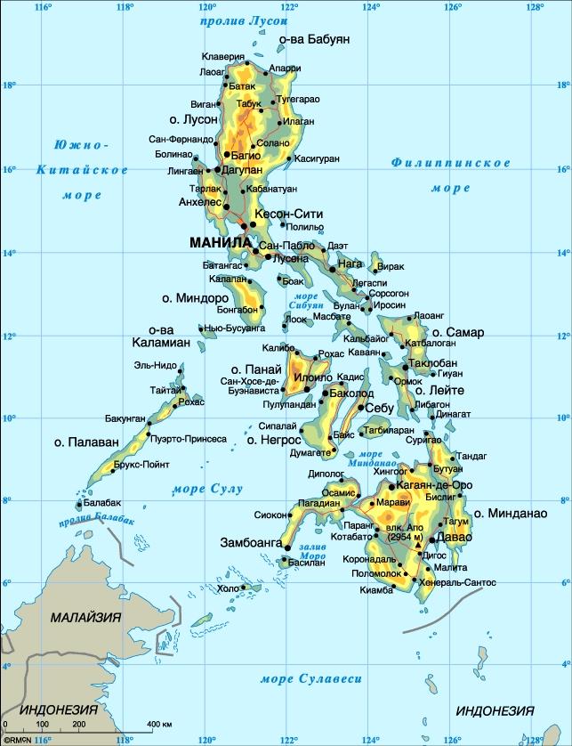 Остров Лусон на карте мира
