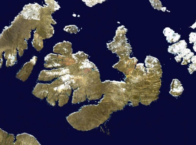Спутниковое фото острова Мелвилл