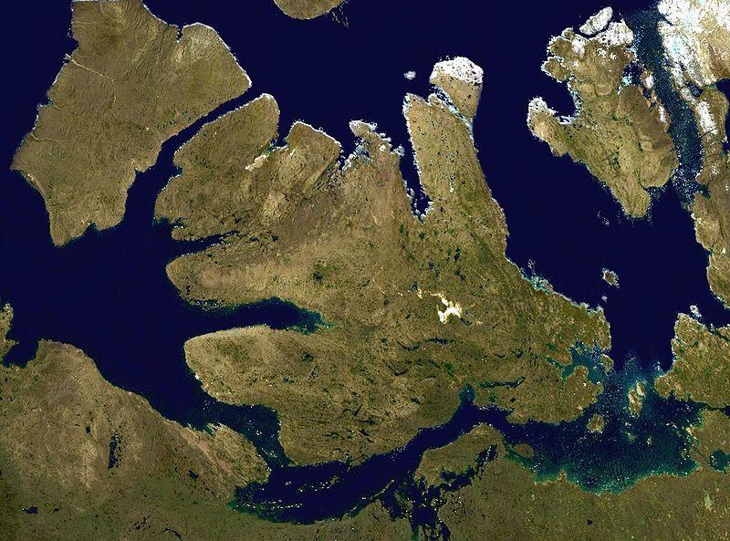 Снимок со спутника острова Виктория